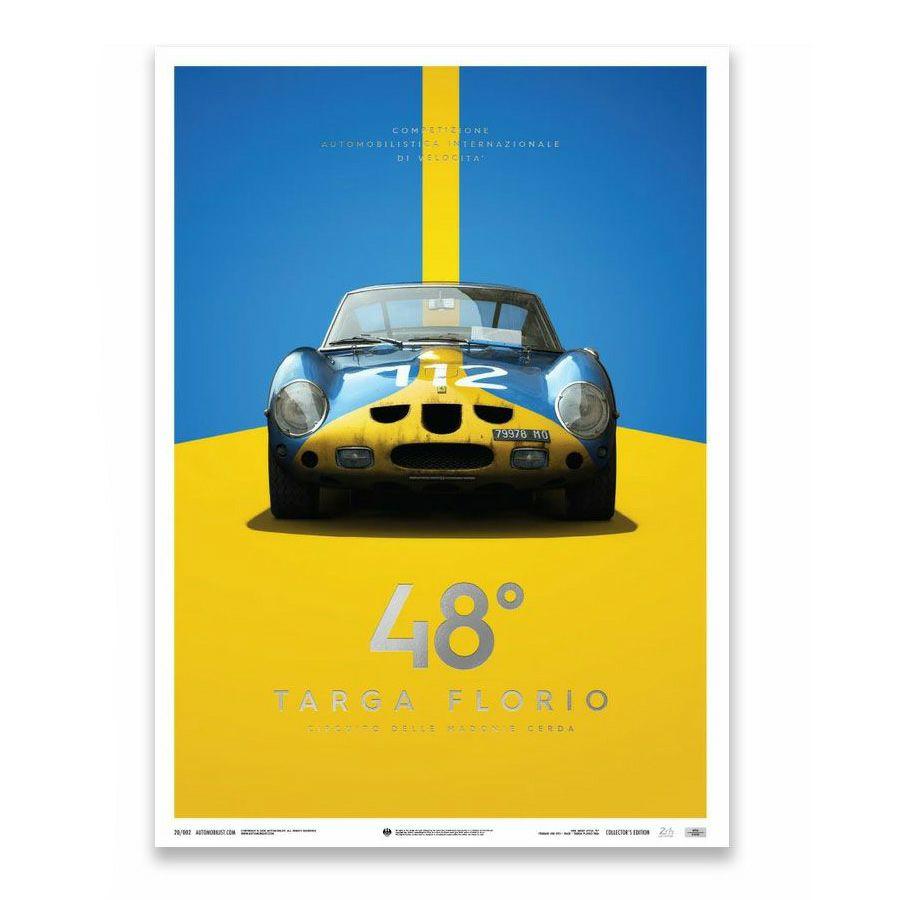 予約/受注発注【ユニーク&リミテッド ギャラリー/Unique & Limited Gallery】フェラーリ 250 GTO 1964年 タルガ・フローリオ コレクターズ エディション ポスター 世界限定1,000枚