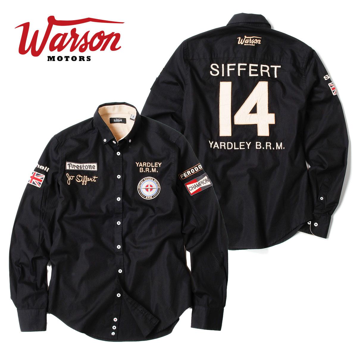 【ワーソンモータース/Warson Motors】B.R.M シャツ メンズ 長袖 ジョー・シフェール F1 B.R.M P160