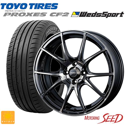 新品タイヤ ホイール ウェッズ ウェッズスポーツ 気質アップ SA-10R × TOYO プロクセスCF2 ロードスターRF等に 205 100 ZBB 正規取扱店 45R17 17×7J +43 タイヤホイール4本セット 4H ゼブラブラックブライト