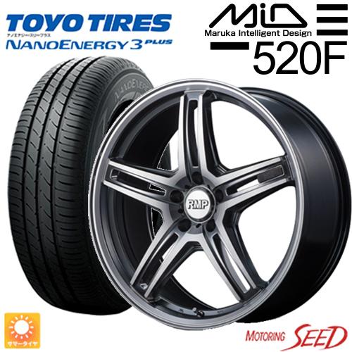 新品タイヤ ホイール マルカサービス 大幅値下げランキング RMPー520F 贈与 × TOYO NANOENERGY 3PLUS アクセラ 45R18 サマータイヤホイール4本セット 114.3 +48 5H 215 18×7J アクセラスポーツ等に