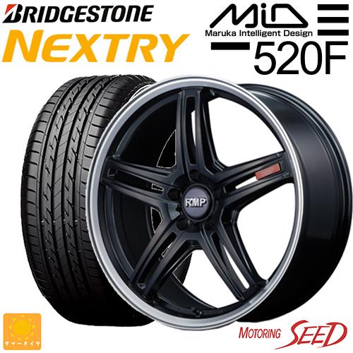 新品タイヤ ホイール マルカサービス RMPー520F × 賜物 ブリヂストン NEXTRY ネクストリー プリウスα 17×7J 50R17 サマータイヤホイール4本セット 215 5H 商品 レヴォーグ等に +48 114.3