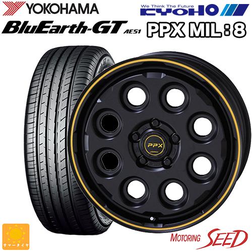 人気が高い 【エスティマ等に】KYOHO PPX MIL:8 ブルーアース 16×7J 5H 16×7J 114.3 +38 5H × YOKOHAMA ブルーアース GT AE51 205/65R16 サマータイヤホイール4本セット, JUNA Online Shop:c44d512c --- grupohafil.com.br