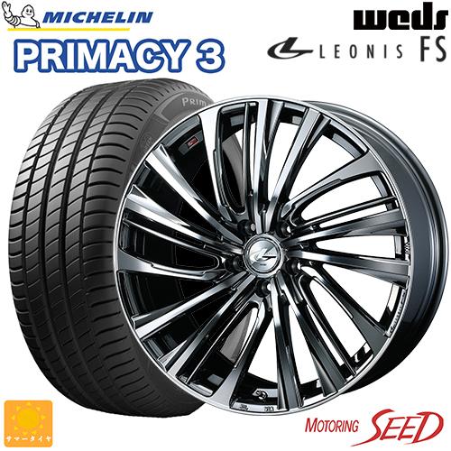 新品タイヤ ホイール ウェッズ レオニス FS × ミシュラン プライマシー 3 レクサスUX CーHR等に 期間限定お試し価格 weds PRIMACY 好評受付中 215 TOY 5H MICHELIN +52 LEONIS 17×6.5J 60R17 114.3 サマータイヤホイール4本セット