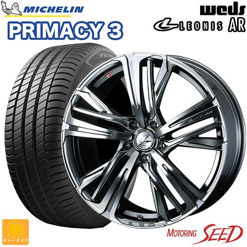 新品タイヤ 超安い ホイール ウェッズ レオニス AR × ミシュラン プライマシー 3 レヴォーグ WRX S4等に weds OPE 215 50R17 +47 TPC 売店 PRIMACY LEONIS 114.3 サマータイヤホイール4本セット 5H SE MICHELIN 17×7J