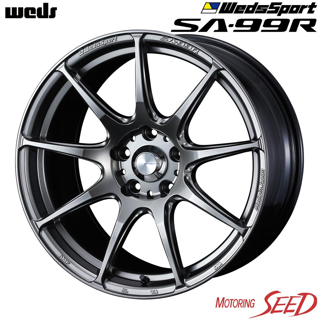 新品タイヤ ホイール ウェッズ ウェッズスポーツ SA-99R × ダンロップ ルマン 5 86 ディスカウント インプレッサXV等に weds MANS LE +48 100 V 225 DUNLOP 45R17 サマータイヤホイール4本セット WedsSport 日本製 17×7.5J 5H