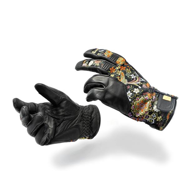 【送料無料】デグナー(DEGNER)TG-25K 花山ツーリンググローブ/花宝 | グローブ 手袋 おしゃれ 防寒 ライダースグローブ ライダース ライダーズ バイカーズ ツーリング ツーリング