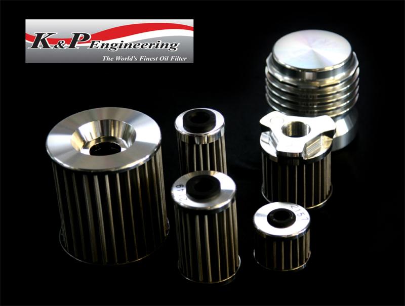 K&P Engineering ステンメッシュ マイクロ オイルフィルター オイルエレメントブラックアナダイズド<ホンダ>CB1000SF/CBR1000F/VTR1000F/VTR1000SP/CBR1000RR/XL1000V VARADERO/ST1100 PAN-EUROPEAN/CBR1100XX ブラックバード/CB1300SF SB