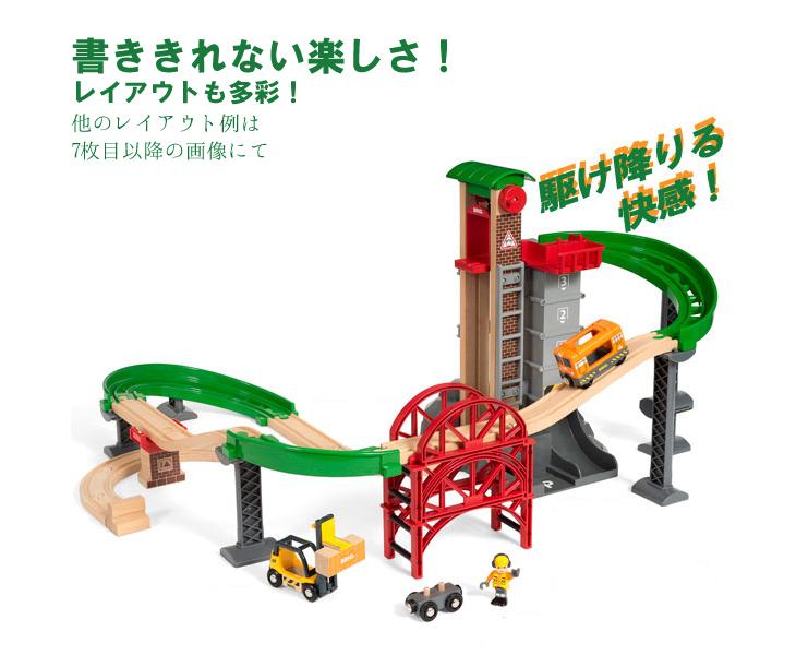 ブリオ 木製レールシリーズ ウェアハウスレールセット(3歳から)【店頭受取も可 吹田】