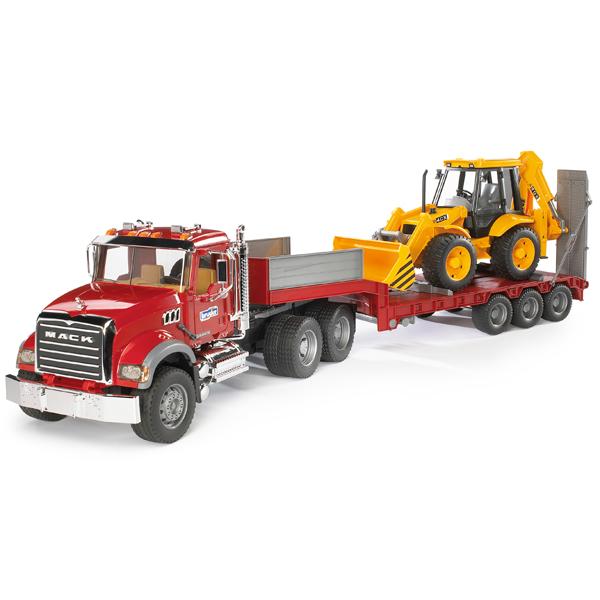 ブルーダープロ はたらくくるま MACKトラック&JCB 4CXバックホーローダー(3歳から)【店頭受取も可 吹田】
