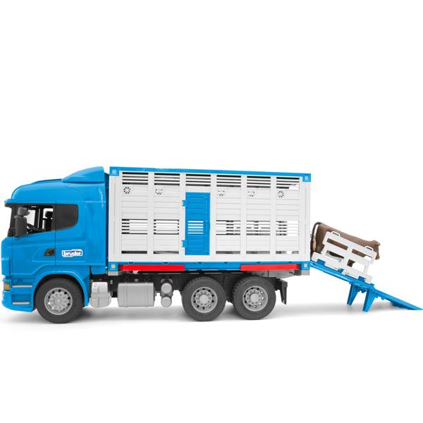 ブルーダー Bruderプロシリーズ はたらくクルマ SCANIA 牛運搬トラック & 牛セット(3歳から)【店頭受取も可 吹田】