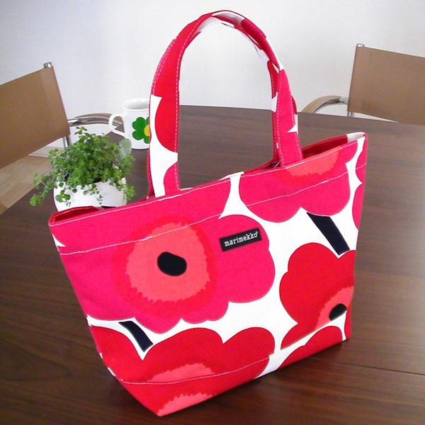 マリメッコ トートバッグ JAPAN UNIKKO BAG(ウニッコ)/RED【店頭受取も可 吹田】