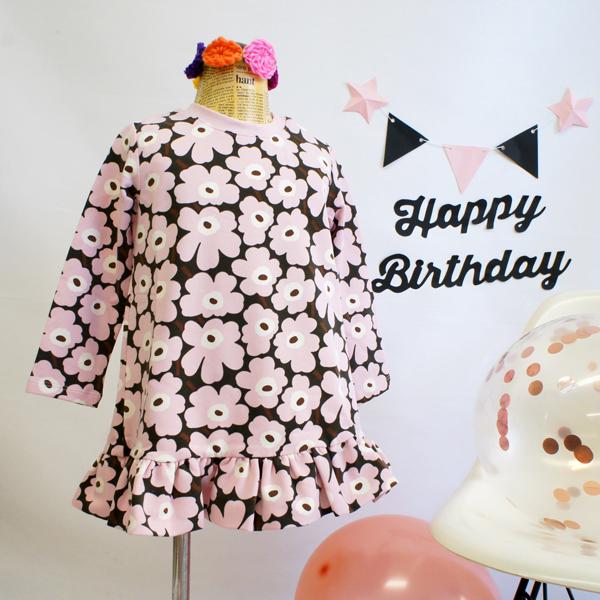 マリメッコ 子供服ワンピース 80cm 1歳 UNIKKO(ウニッコ)/LILLA&D-GREEN【店頭受取も可 吹田】