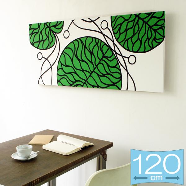 ファブリックパネル マリメッコ BOTTNA/GREEN 120×50cm