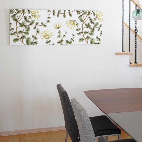 ファブリックパネル マリメッコ KUUSAMA(クーサマ)/WHITE 136×50cm