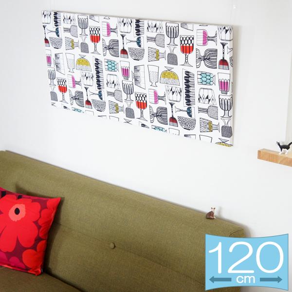 ファブリックパネル マリメッコ KIPPIS(キッピス) 120×50cm