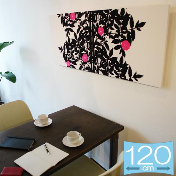 ファブリックパネル マリメッコ RUUSUPUU/BLACK 120×50cm インテリア 壁掛 壁飾【店頭受取も可 吹田】