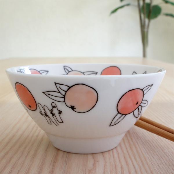 ムーミン 陶器のライスボウル お茶碗 citrus dots/シトラスドット リトルミイ