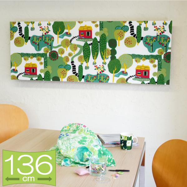 ファブリックパネル シナマーク kinnamark STORY/WHITE 136×50cm インテリア 壁掛 壁飾【店頭受取も可 吹田】