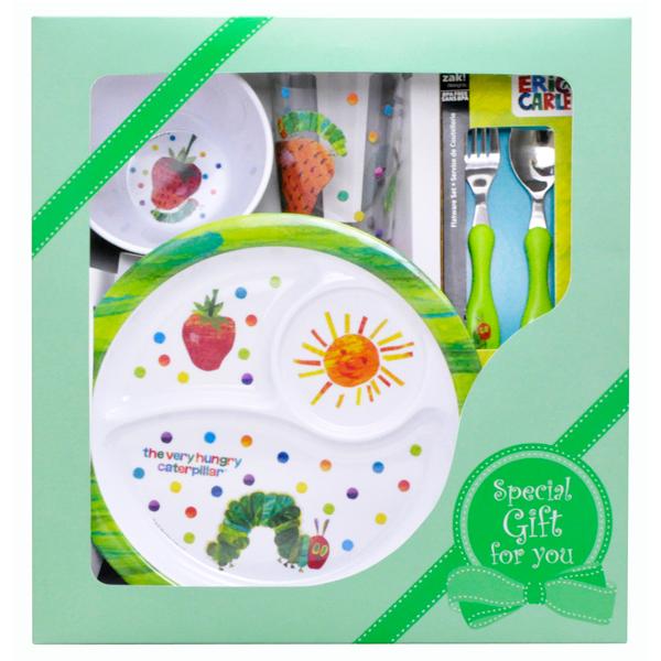 Melamine durable and very hungry caterpillar kids Dinnerware gift set 4-piece set  sc 1 st  Rakuten & MottoZutto | Rakuten Global Market: Melamine durable and very ...