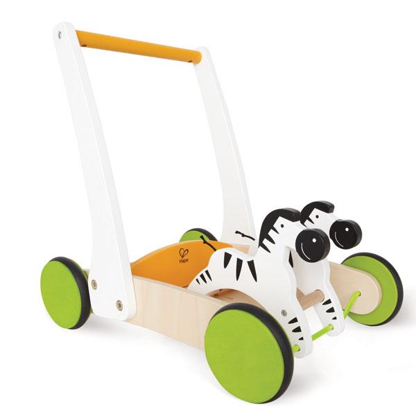 ハペ Hape 木のおもちゃ ギャロッピングゼブラカート(12カ月から)【店頭受取も可 吹田】