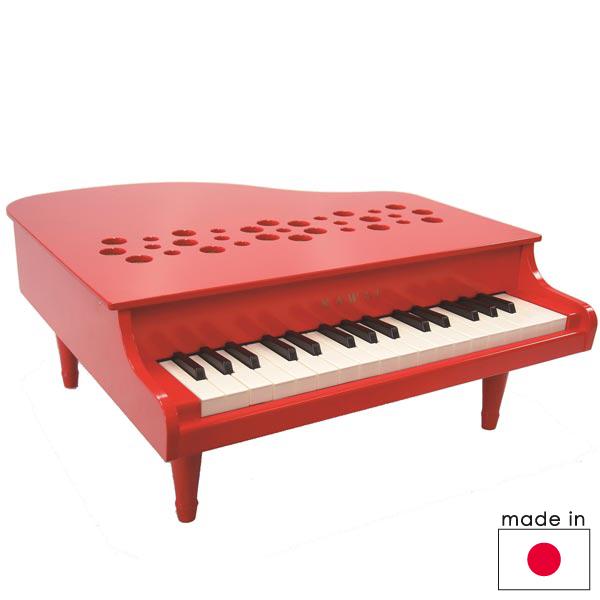 カワイ ミニピアノP-32/レッド 32鍵(3歳から)