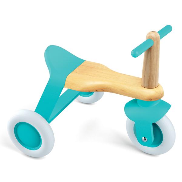 ジェコ 木の乗用玩具 三輪車 ブルーロールイット(12カ月から)【店頭受取も可 吹田】