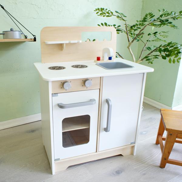 ピントイ 木製のままごとキッチン クラシカルキッチンセット(3歳から)【店頭受取も可 吹田】
