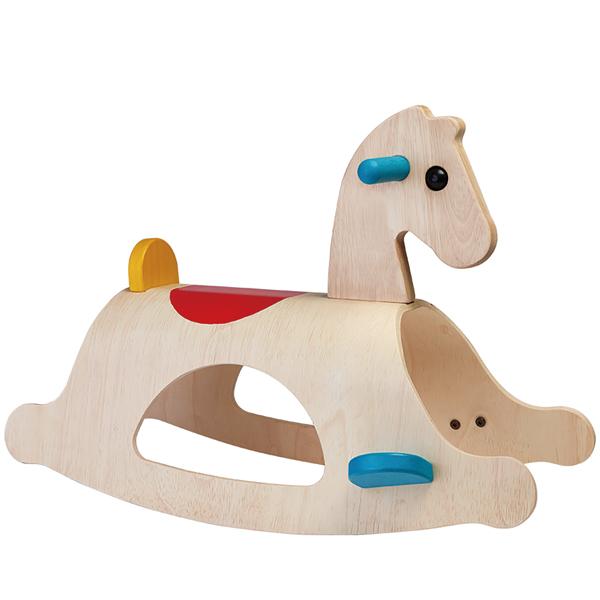 プラントイ 木のおもちゃ パロミノ(木馬 乗用玩具:2歳から)【店頭受取も可 吹田】