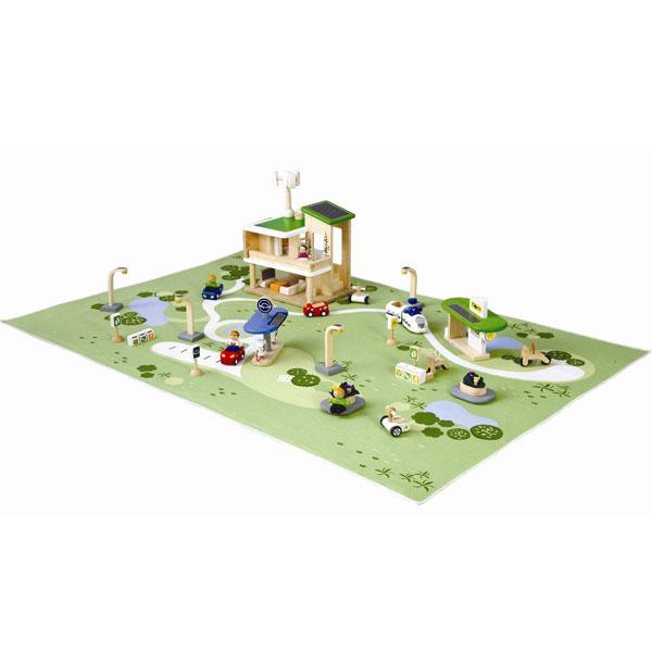 プラントイ 木のおもちゃ PlanCityエコタウン(3歳から)【店頭受取も可 吹田】