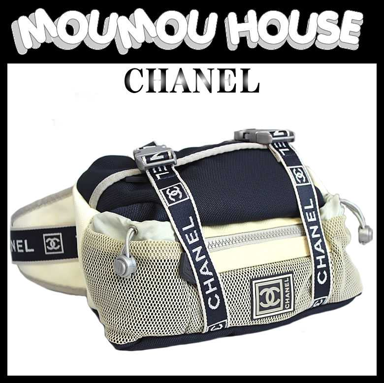 4fad76cc8410 Brand Shop Moumou House: CHANEL □ Chanel □ sports line □ waist bag hip bag  Nylon canvas □ Navy x off white □ A27892 □ ladies ♪ waist back hip and ...