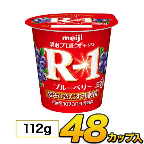 明治 R-1 ヨーグルト 送料無料 R1乳酸菌 食べるヨーグルト 新作送料無料 ブルーベリー 脂肪0 アウトレットセール 特集 乳酸菌食品 カップ クール便 112g プロビオヨーグルト 48個入り ヨーグルト食品