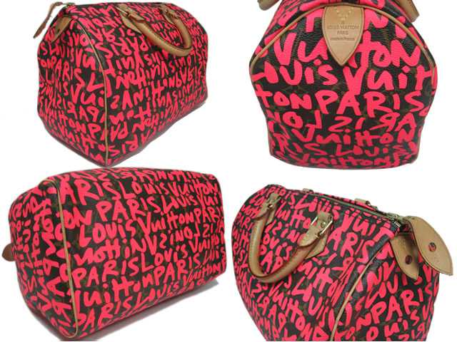 11a912fdc7ad ... Louis Vuitton □ Monogram □ graffiti speedy 30 □ Boston bag □ Fuchsia  pink M93706 ...
