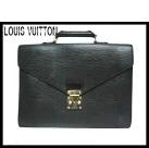【送料無料】LOUIS VUITTON■ルイヴィトン黒エピ■セルヴィエット・コンセイエ■ビジネスバッグM54422■美品♪ビジネスバッグ LV ユニセックス LOUIS VUITTON【A-C】【中古】