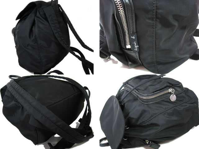 Agnes.b Agnes b ■ ■ 背包尼龙 / 皮革 ■ 黑色 ■ 女士! 背包背包 05P19Jun15