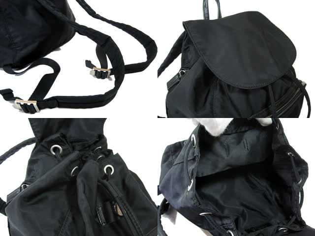 Agnes.b ■ Agnes ■ nylon rucksack * leather ■ black ■ ladies! backpack daypack fs04gm