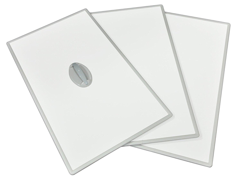 75×120cmホワイト/ホワイト (3枚割) L12 送料無料(北海道・東北・沖縄・離島以外) 東プレ Ag取手付きアルミふた