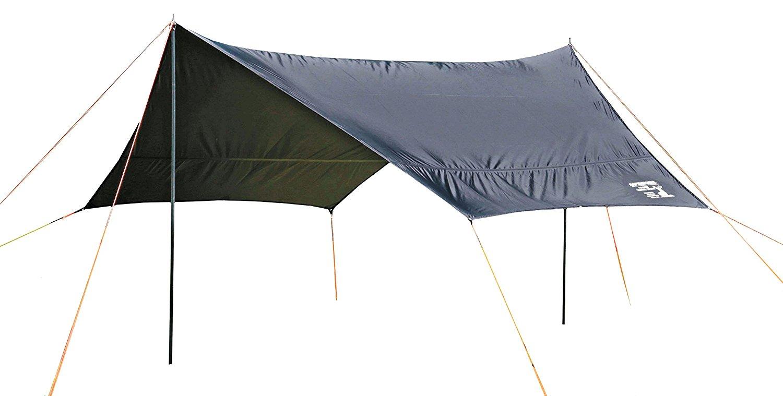 送料無料(北海道・沖縄・離島以外) キャプテンスタッグ(CAPTAIN STAG) UA-1074 キャンプ テント タープ ヘキサタープ【サイズ400×420×H220cm】UV・PU加工 キャリーバッグ付き CSブラックラベル
