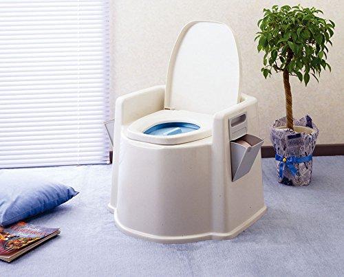送料無料(北海道・沖縄・離島以外) 幸和製作所 テイコブポータブルトイレ(肘掛け付) PT02 簡易トイレ