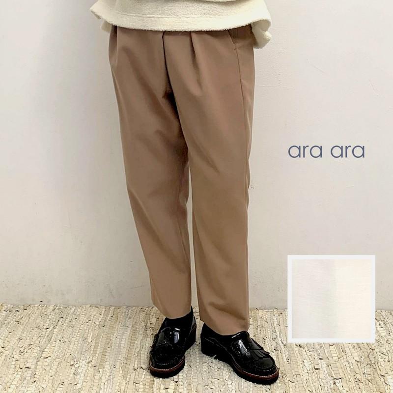 ara ara(アラアラ)タックストレッチイージーパンツ 194007
