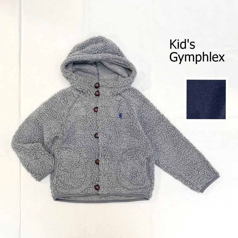 【キッズ】Gymphlex(ジムフレックス)ボタンパーカー ボアジャケット Gymphlex J-1396PL-kids