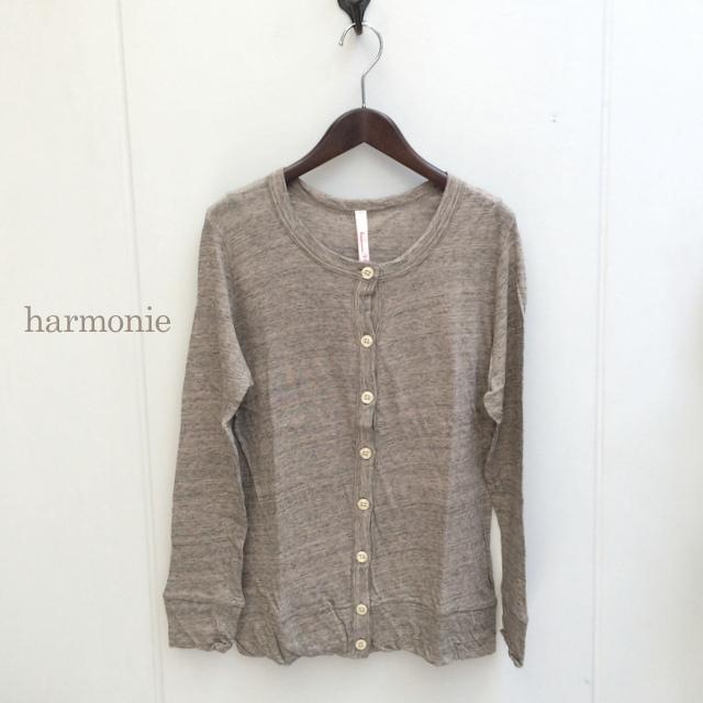 harmonie (アルモニ)ウォッシャブル・やわらかガーゼ天竺 カーディガン[6980145]