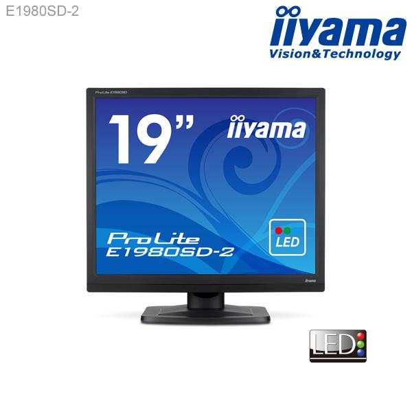 【エントリーでポイント7倍】【スクエア液晶★ iiyama E1980SD-2 19型スクエア液晶ディスプレイ 【1280x1024/スクエア/HDCP対応/応答速度5ms/コントラスト比5000000:1(最大)】<新品>