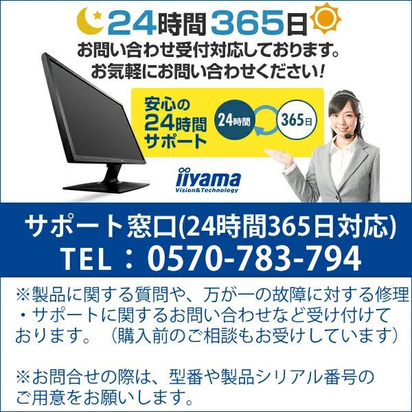 【さらにエントリーでポイント5倍♪】iiyama ProLite XUB2493HS-2 23.8型 ワイド 液晶ディスプレイ モニター IPS方式 広視野角 ノングレア液晶 1920×1080 フルHD ブルーライトカット 多機能スタンド ピボット スウィーベル機能搭載 <新品>