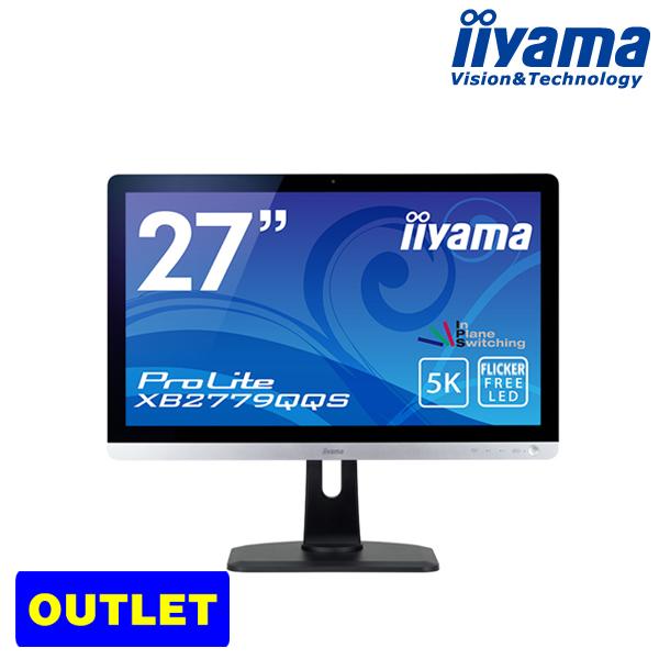 IPS方式 iiyama ProLite XB2779QQS 27型ワイド液晶ディスプレイ 最大解像度5K(5120×2880)サポート 応答速度4ms コントラスト比80000000:1(最大)送料無料<アウトレット>