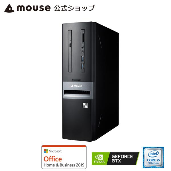 【ポイント5倍♪】LM-iGS410S4D-S2-MA-AB デスクトップ パソコン Core i5-9400 8GB メモリ 256GB M.2 SSD GeForce GTX1650 DVDドライブ Microsoft Office付き mouse マウスコンピューター PC BTO 新品