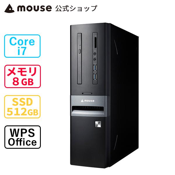 格安販売中 mouse SL7-MA (第10世代CPU) デスクトップ パソコン Windows10 Core i7-10700 8GB メモリ 512GB M.2 SSD DVDドライブ 無線LAN WPS Office付き mouse マウスコンピューター PC BTO 新品, フラワーショップBlue candle dda542db