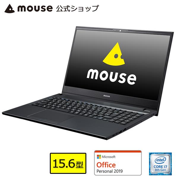 【ポイント5倍♪】ノートパソコン office付き 新品 mouse F5-i7-MA-AP パソコン 15.6型 Windows10 Core i7-8565U 8GB メモリ 256GB SSD 1TB HDD DVDドライブ Microsoft Office付き mouse マウスコンピューター PC BTO