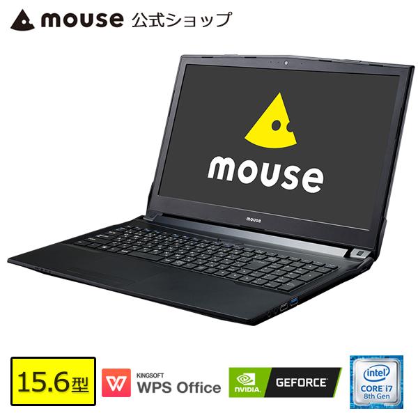 【ポイント10倍♪~4/22 15時まで】MB-K690XN-M2SH2-MA ノートパソコン パソコン 15.6型 Core i7-8750H 16GB メモリ 256GB SSD 1TB HDD GeForce MX150 WPS Office付き mouse マウスコンピューター PC BTO 新品