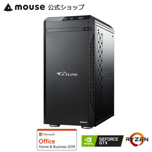 【ポイント5倍♪】G-Tune PM-A-1660 ゲーミングPC eスポーツ デスクトップ パソコン AMD Ryzen 7 3700X 8GB メモリ 512GB M.2 SSD GeForce GTX1660 Microsoft Office付き mouse マウスコンピューター PC BTO 新品