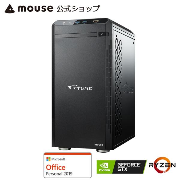 【ポイント5倍♪】G-Tune PM-A-1660ゲーミングPC eスポーツ デスクトップ パソコン AMD Ryzen 7 3700X 8GB メモリ 512GB M.2 SSD GeForce GTX1660 Microsoft Office付き mouse マウスコンピューター PC BTO 新品